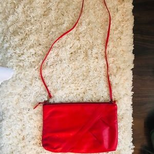 Handbags - Vintage Red Leather Cross-Body